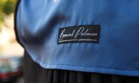 Poelman toga voering blauw